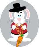 Mr. Bunny. Is a cute little rabbit. He loves diamonds and luxury in his outfit Stock Photography