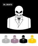 Mr death. Skull wearing businessman. Skeleton in an Office suit. Royalty Free Stock Image