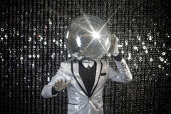 Mr discoball club Royalty Free Stock Images