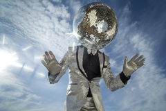 Mr discoball sunshine Royalty Free Stock Images