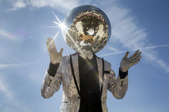 Mr discoball sunshine Stock Images