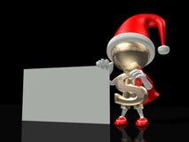 Mr dollar congratulates all on Christmas. Mr. dollar congratulates all on Christmas and new year Stock Photo