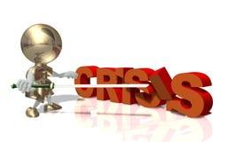 Mr. dollar and global economic crisis. Mr. dollar struggles with a global economic crisis Stock Image