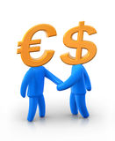 Mr. Euro and Dollar Royalty Free Stock Photography