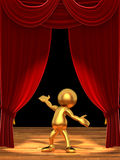 Mr Goldman - The star of the show Royalty Free Stock Photo