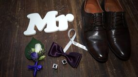 Mr groom`s wedding accessories butterfly butterfly and shoes