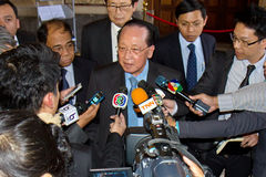 Mr. Hor Namhong, Deputy Prime Minister of the Kingdom of Cambodia. THE HAGUE, 19 April 2013 - Mr. Hor Namhong, Deputy Prime Minister of the Kingdom of Cambodia Stock Photography