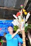 Mr.Jon Eddy Abdulla. UBONRATCHATANI,THAILAND - MAY 19 : President Dtac Company Thailand Mr.Jon Eddy Abdulla Donate the money for The Sripradu temple in Dtac royalty free stock images