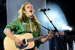 Mr Kilombo (Brytyjski wystrzału zespół rockowy) przy Primavera wystrzału festiwalem Zdjęcie Stock