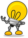 Mr lamp. Illustration of idea icon show in lamp character stock illustration