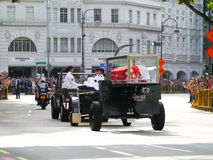 Mr Lee Kuan Yew   (16.09.1923 - 23.03.2015). Mr Lee Kuan Yews casket travels from Istana to Parliament House by means of a gun carriage Stock Image
