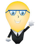 Mr. Light bulb. Is designed for a variety of uses and can have a variety of suits and designs placed on him Stock Photos