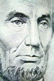 Mr. Lincoln graces the five dollar bill royalty free stock photos