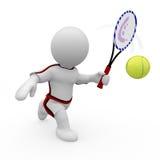 Mr. Mądrze facet bawić się tenisa Obrazy Stock
