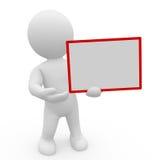 Mr. Mądrze facet z whiteboard Zdjęcie Royalty Free