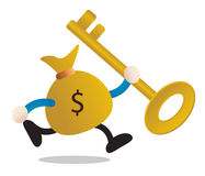 Mr money. Illustration of money character showing investment Royalty Free Stock Photo