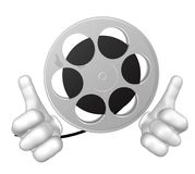Mr movie reel mascot character Royalty Free Stock Images