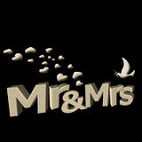 Mr and mrs in 3D Royalty Free Stock Photo