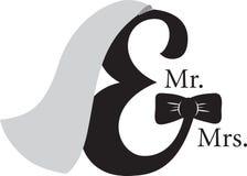 Mr & Mrs Ampersand Stock Photography