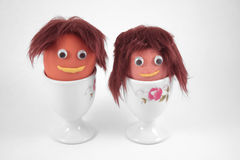 Mr and Mrs Brown Egg Royalty Free Stock Photo