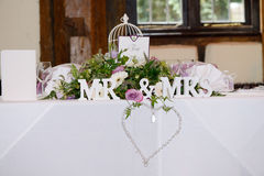 Mr & Mrs decoration Stock Photo