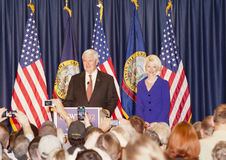 Mr and Mrs Gingrich at an event. Royalty Free Stock Image