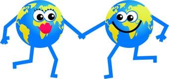 Mr and mrs globe Royalty Free Stock Photo
