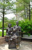 Mr and Mrs Naperville Statue Stock Photo