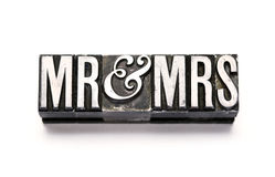 Mr & Mrs Stock Image