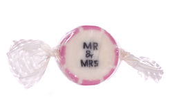 Mr and mrs pink sweet Royalty Free Stock Photo