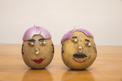 Mr and mrs potatoes. Couple of mr and mrs potatoes royalty free stock images