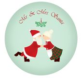 Mr & Mrs Santa Stock Images