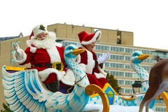 Mr and Mrs Santa Claus in Philly Royalty Free Stock Photos