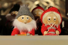 Mr and Mrs Santa Claus. Portrait of Mr and Mrs Santa Claus royalty free stock photos