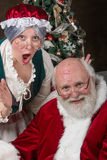 Mr and Mrs Santa Clause Royalty Free Stock Photography