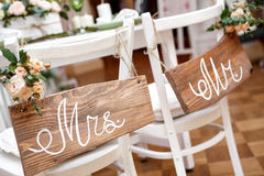 Mr. & Mrs. Sign Royalty Free Stock Images
