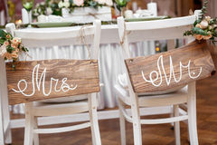 Mr. & Mrs. Sign Royalty Free Stock Photography