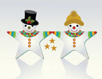 Mr and Mrs Snowman (unique shape)  Royalty Free Stock Image