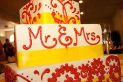 Mr & Mrs Wedding Cake Royalty Free Stock Image