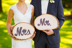 Mr and Mrs Wedding Decor Signs