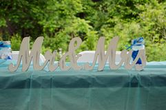 Mr. and Mrs. wedding decorations