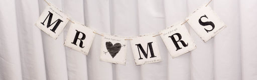 MR AND MRS. Wedding details Royalty Free Stock Photos