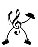 Mr. Music. A black illustration of danciing musical score Royalty Free Stock Photo