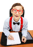 Mr. Nerd in the office Royalty Free Stock Image