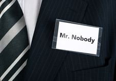 Mr. Nobody Royalty Free Stock Photography