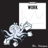 Mr. octopus 01 royalty free illustration