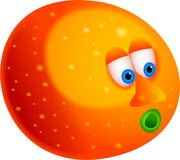 Mr orange Royalty Free Stock Photos