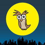 Mr. Owl in the Cityscape Stock Images
