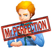 Mr perfection with text Stock Images