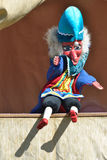 Mr punch sitting down. And waving royalty free stock photos